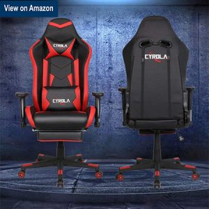 Cyrola High back Computer Gaming Chair with Footrest