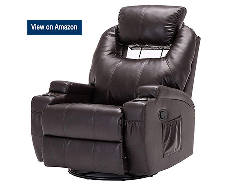 SUNCOO_Massage_Recliner_Bonded_Leather_Chair
