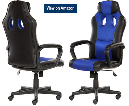 SEATZONE Smile Face Series Leather Gaming Chair blue