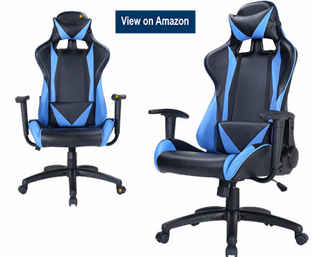Zenith High Back PU Leather and Mesh Swivel Gaming Chair