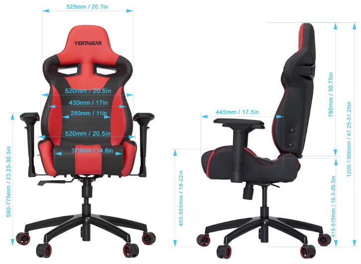 vertagear sl4000 series gaming chair