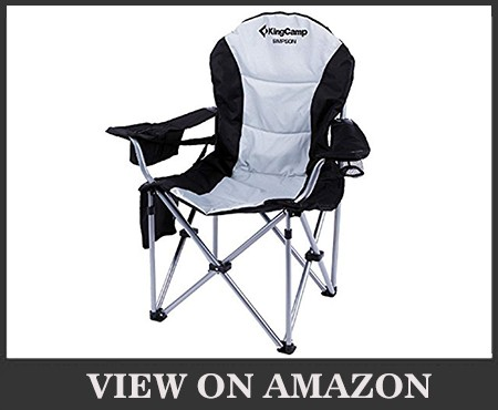 KingCamp Camping Chair with Cooler Armrest