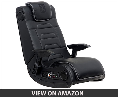 X Rocker Pro Series H3 Black Leather Floor Gaming Chair