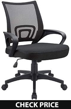 Devoko Ergonomic Mid Back Swivel Mesh Chair