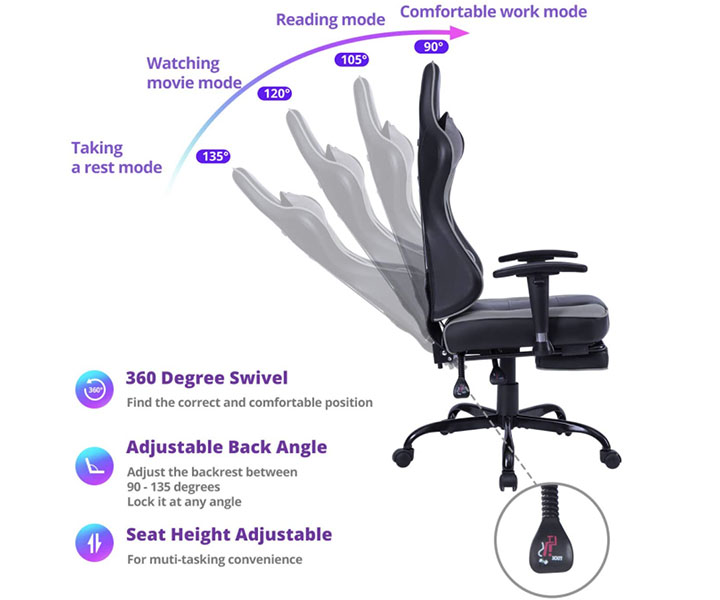 von racer chair features