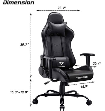 vitesse chair dimension